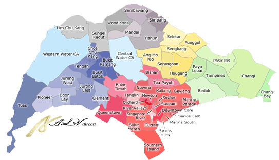 air-con servicing map district singapore